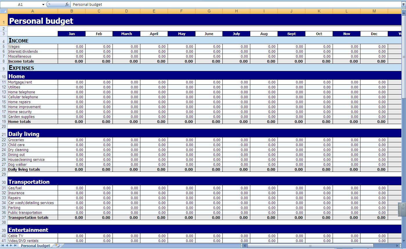 Download Excel Budget Spreadsheet Free   Gantt Chart Excel Template