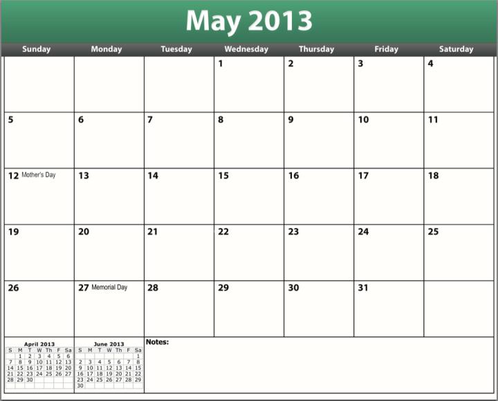 Blank Fill In Calendar 2014 | Calendar Template 2016