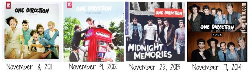 One Direction Album Release Dates