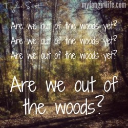 Taylor Swift 1989 Lyrics - Out of the Woods 1