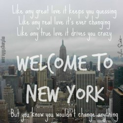 Taylor Swift 1989 Lyrics - Welcome to New York 3