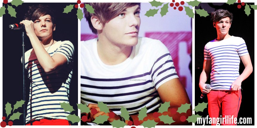 Louis Tomlinson Striped Shirt Christmas