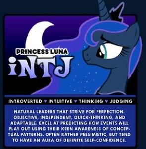 Myers Briggs My Little Pony MBTI INTJ