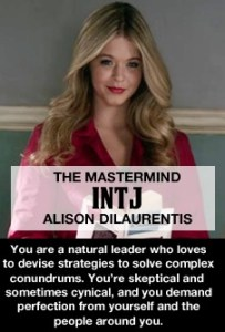 Myers Briggs Pretty Little Liars MBTI INTJ