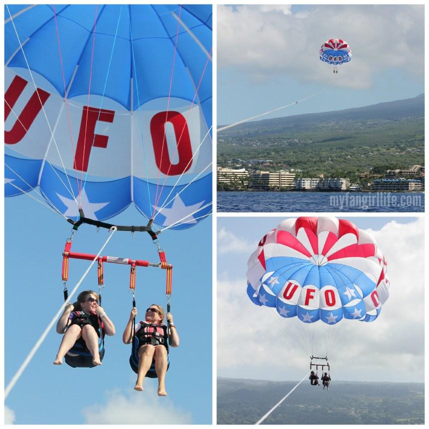 UFO parasailing collage