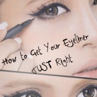 How to Draw Your Eyeliner on Just Right