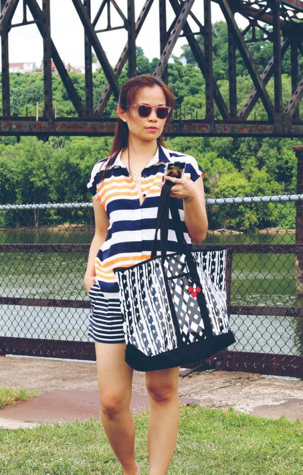 Double stripes le tote1 Double Stripes with Le Tote Style