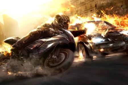 motorcycle vs car hd wide 4107