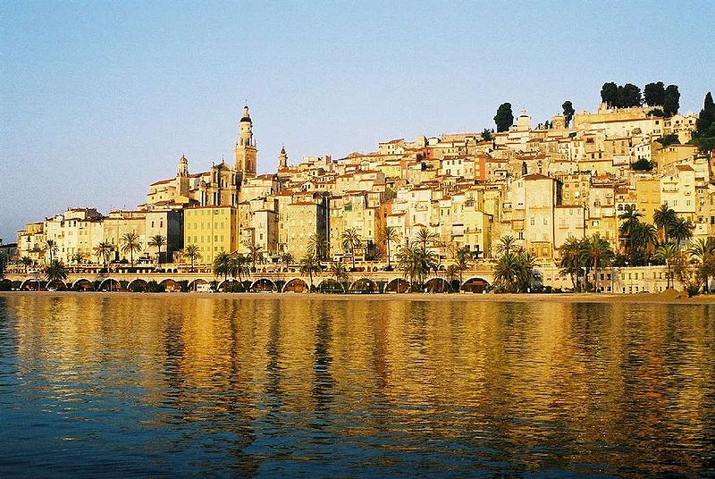 Menton, The Pearl of France, Image Gerard Cohen, Wikimedia