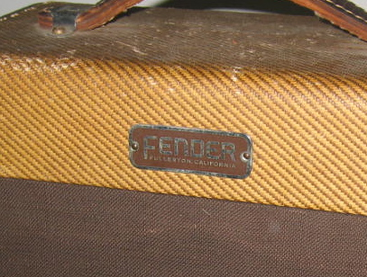 Tweed Fender Champ Block Style Logo (1953)
