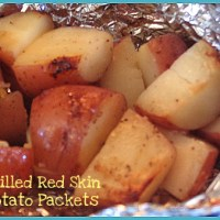 Grilled Garlic Red Skin Potato Packets