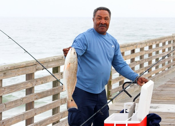 Effric s big day at jax beach pier florida fishing for Fishing report jacksonville fl
