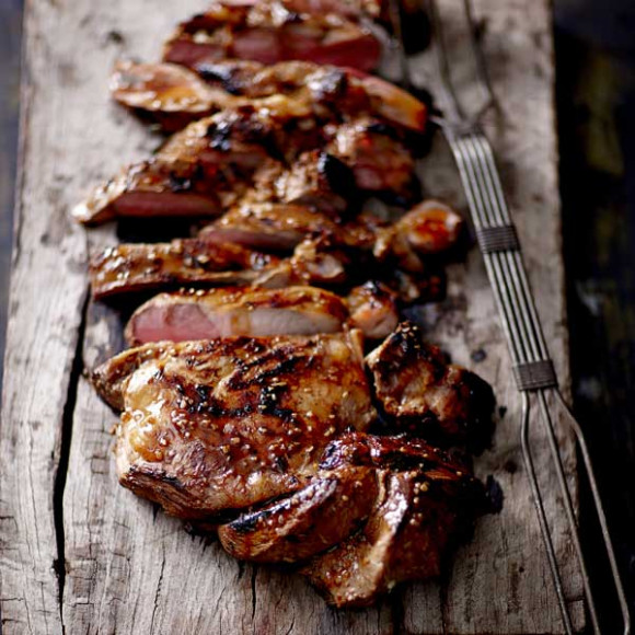 Paleo Asian Barbequed Butterflied Leg of Lamb