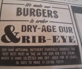 Burger info Jamie's Diner