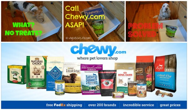 My GBGV Life call chewy.com for pet snacks