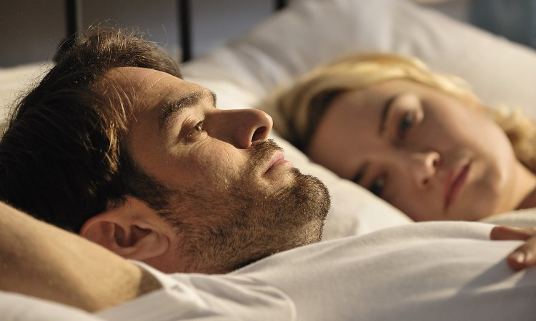 On-set still, featuring Charlie Cox and Sophia Myles
