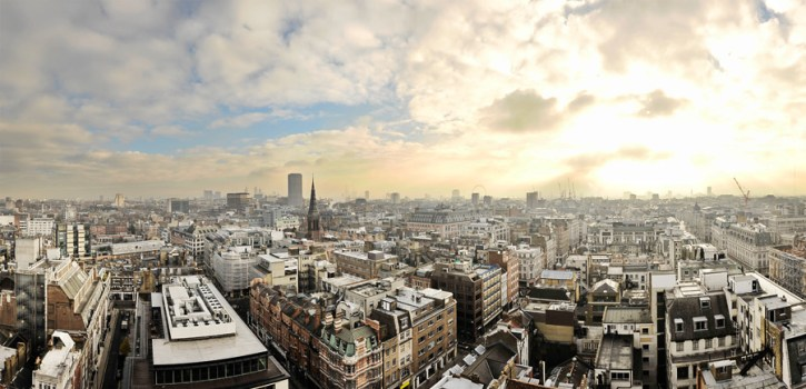 a london skyline panorama