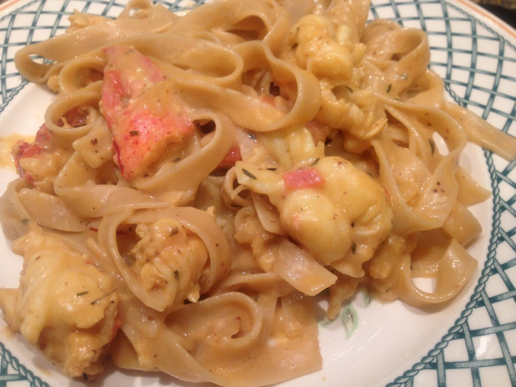 CreamyLobsterTagliatelle closeup