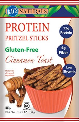 Kay's Naturals Protein Pretzel Sticks, Cinnamon Toast, 1.2 ounces (Pack of 6)