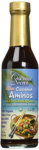 Coconut Secret Organic Raw Coconut Aminos Soy-Free Seasoning Sauce – 8 oz – 3 pk