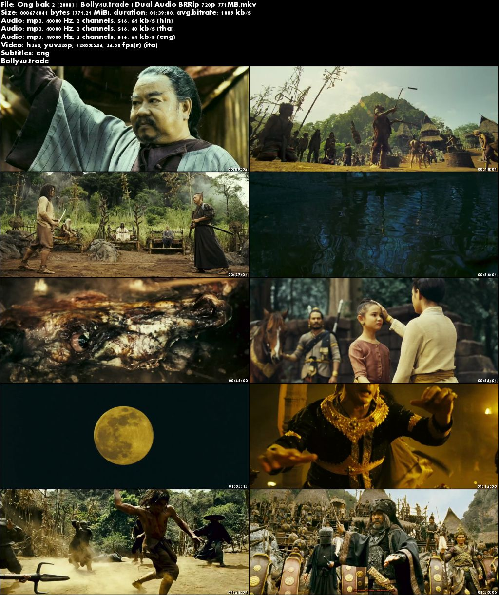 Ong bak 2 2008 BRRip 350Mb Hindi Dual Audio 480p Download