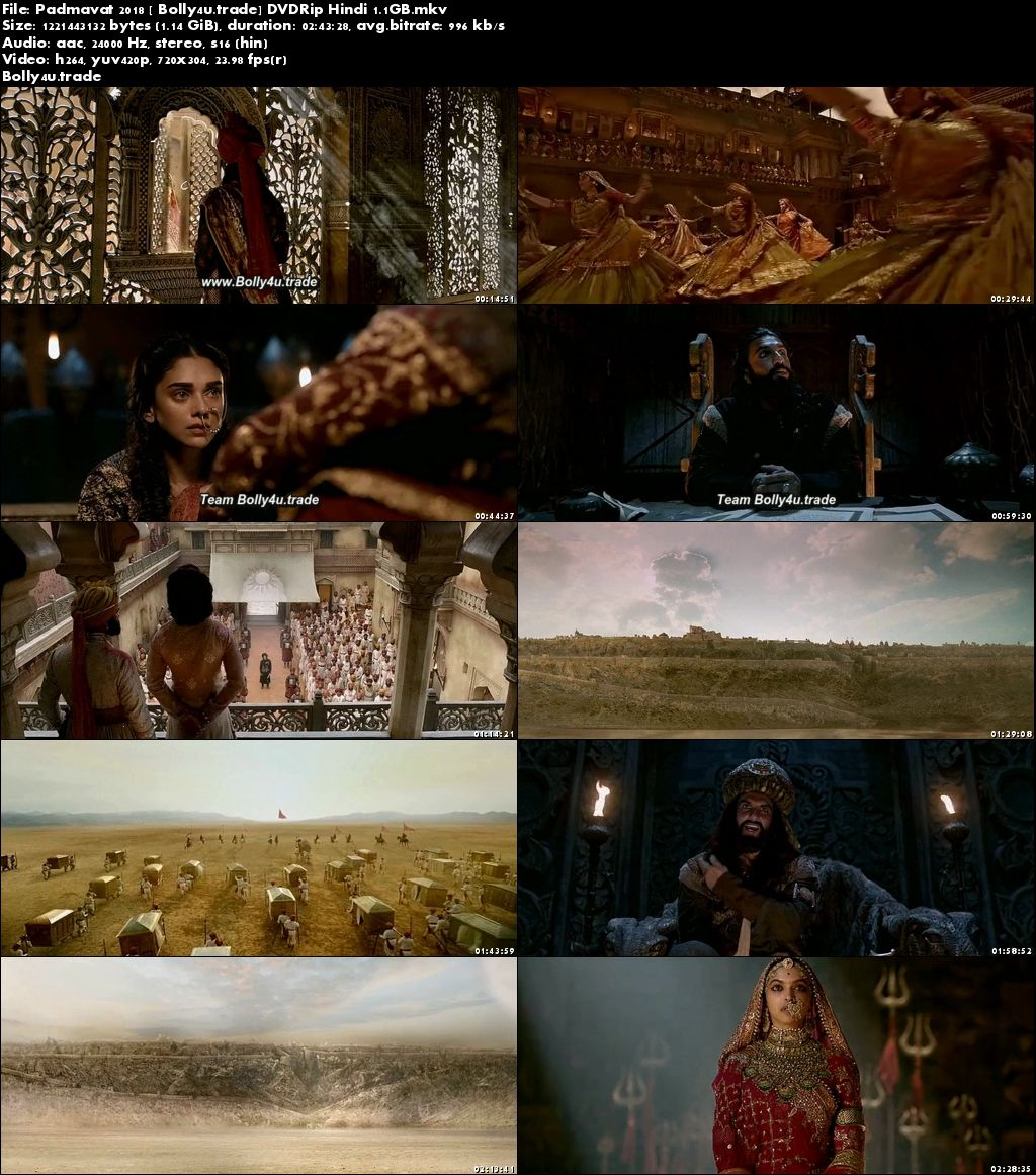 Padmavat 2018 DVDRip Full Hindi Movie Download x264