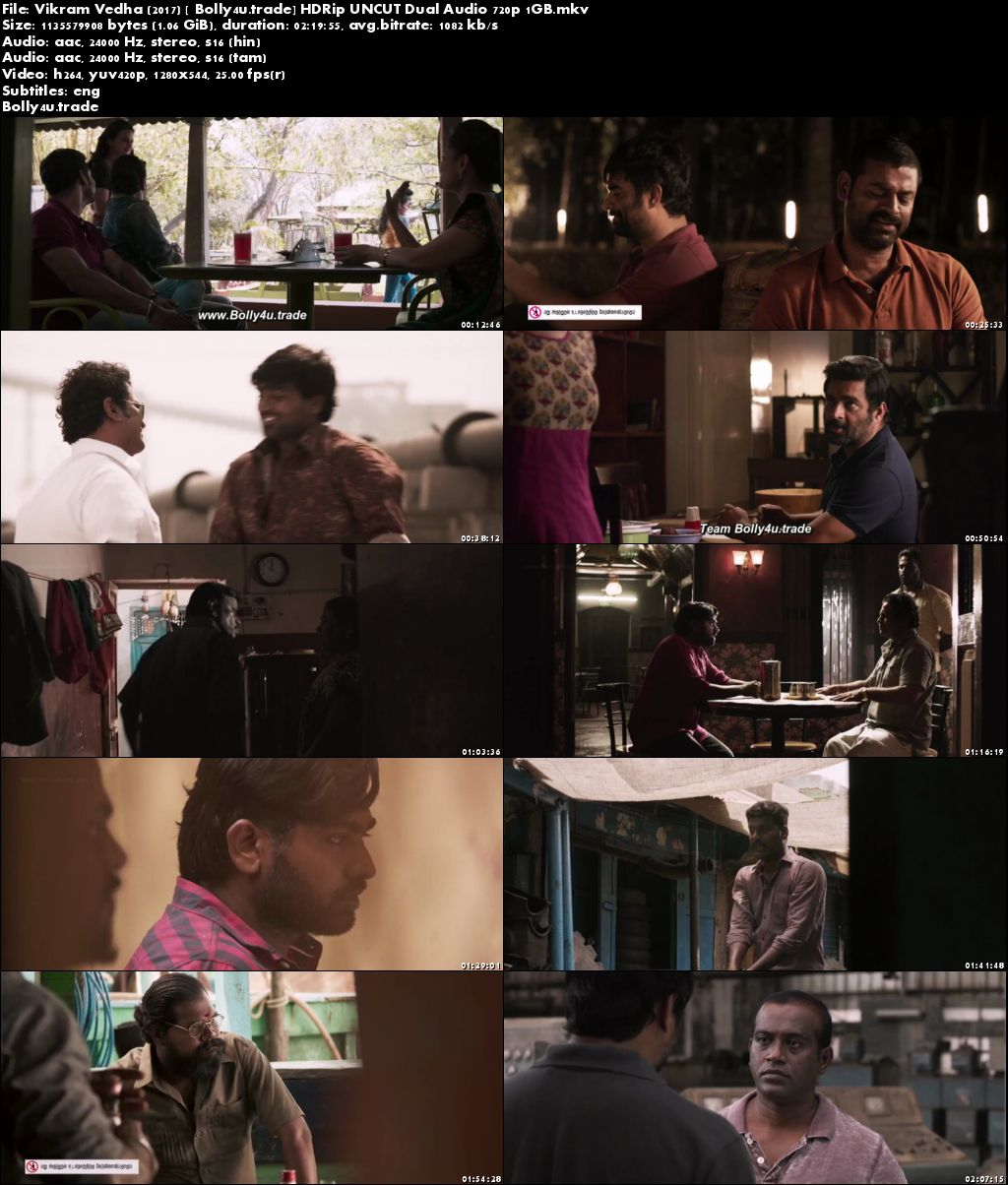 Vikram Vedha 2017 HDRip 400MB UNCUT Hindi Dual Audio 480p Download
