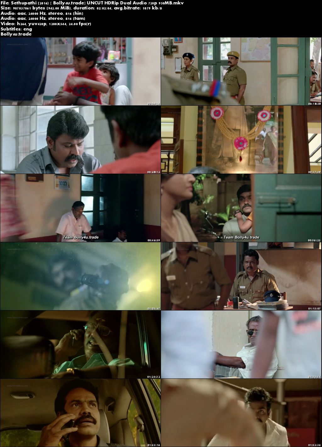Sethupathi 2016 HDRip 350Mb UNCUT Hindi Dual Audio 480p Download