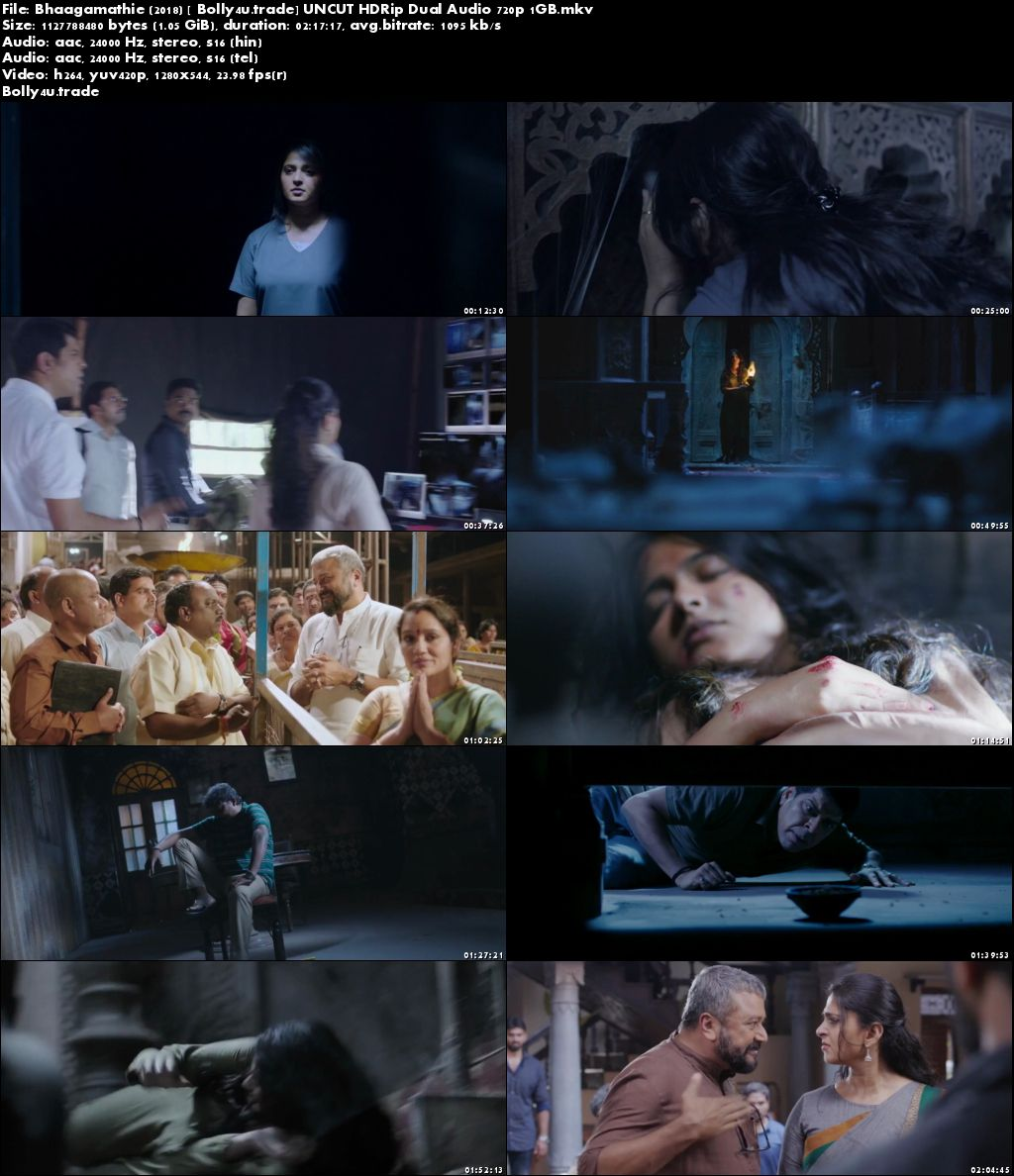Bhaagamathie 2018 HDRip 400MB UNCUT Hindi Dual Audio 480p Download