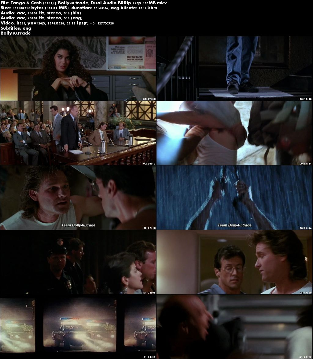Tango and Cash 1989 BluRay 350MB Hindi Dual Audio 480p Download