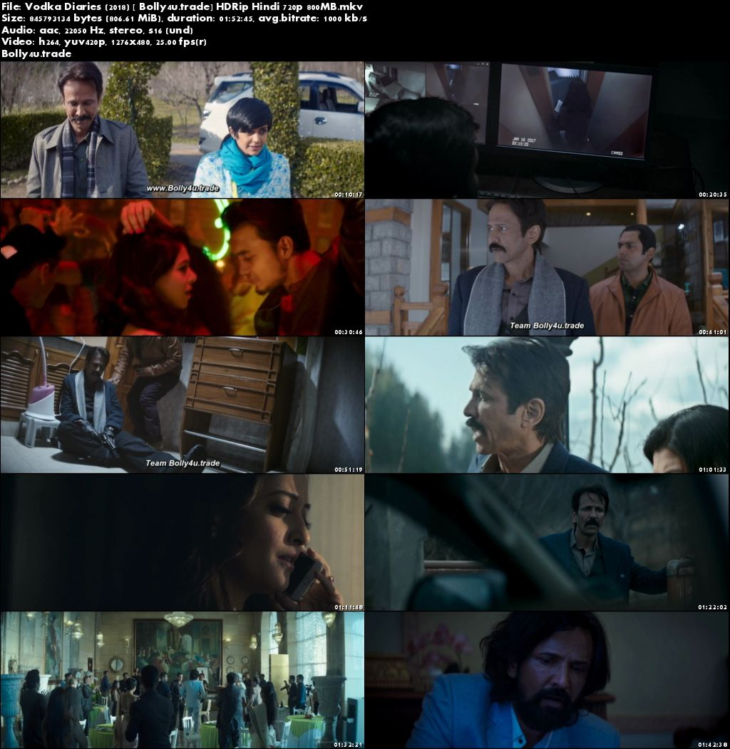 Vodka Diaries 2018 HDRip 800MB Full Hindi Movie Download 720p