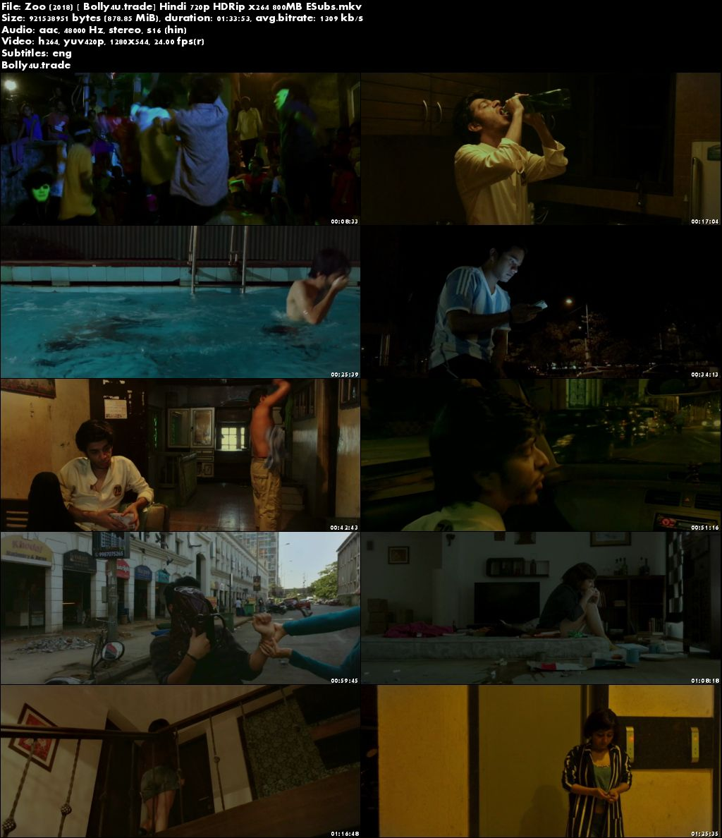 Zoo 2018 HDRip 280MB Full Hindi Movie Download 480p ESub