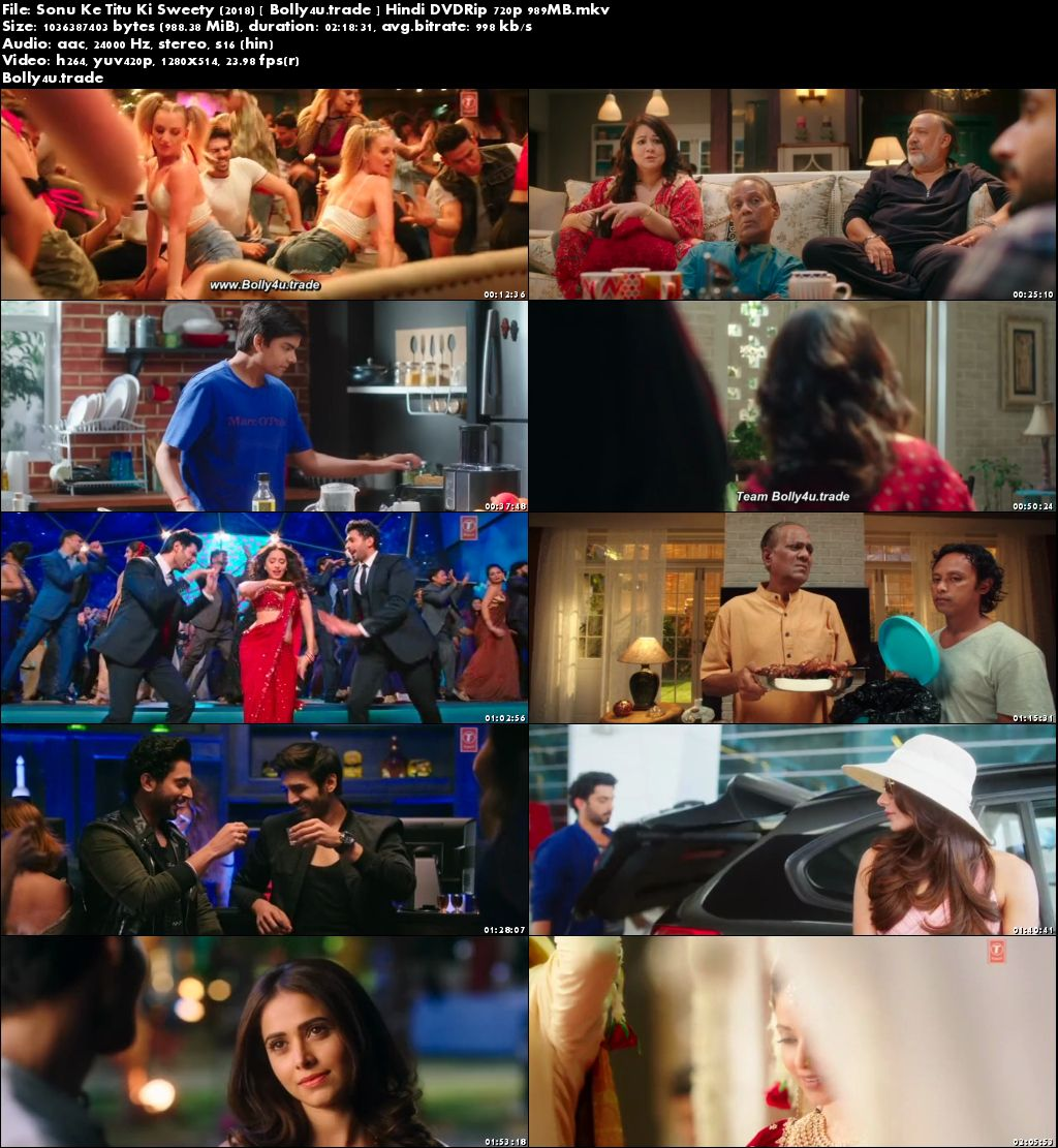 Sonu Ke Titu Ki Sweety 2018 DVDRip 400Mb Full Hindi Movie Download 480p