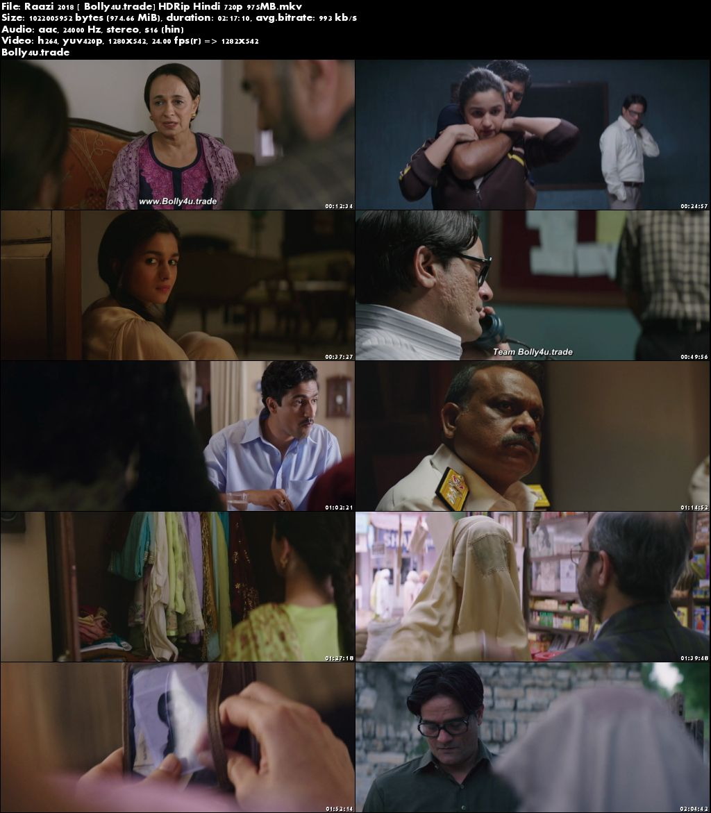 Raazi 2018 HDRip 400Mb Full Hindi Movie Download 480p