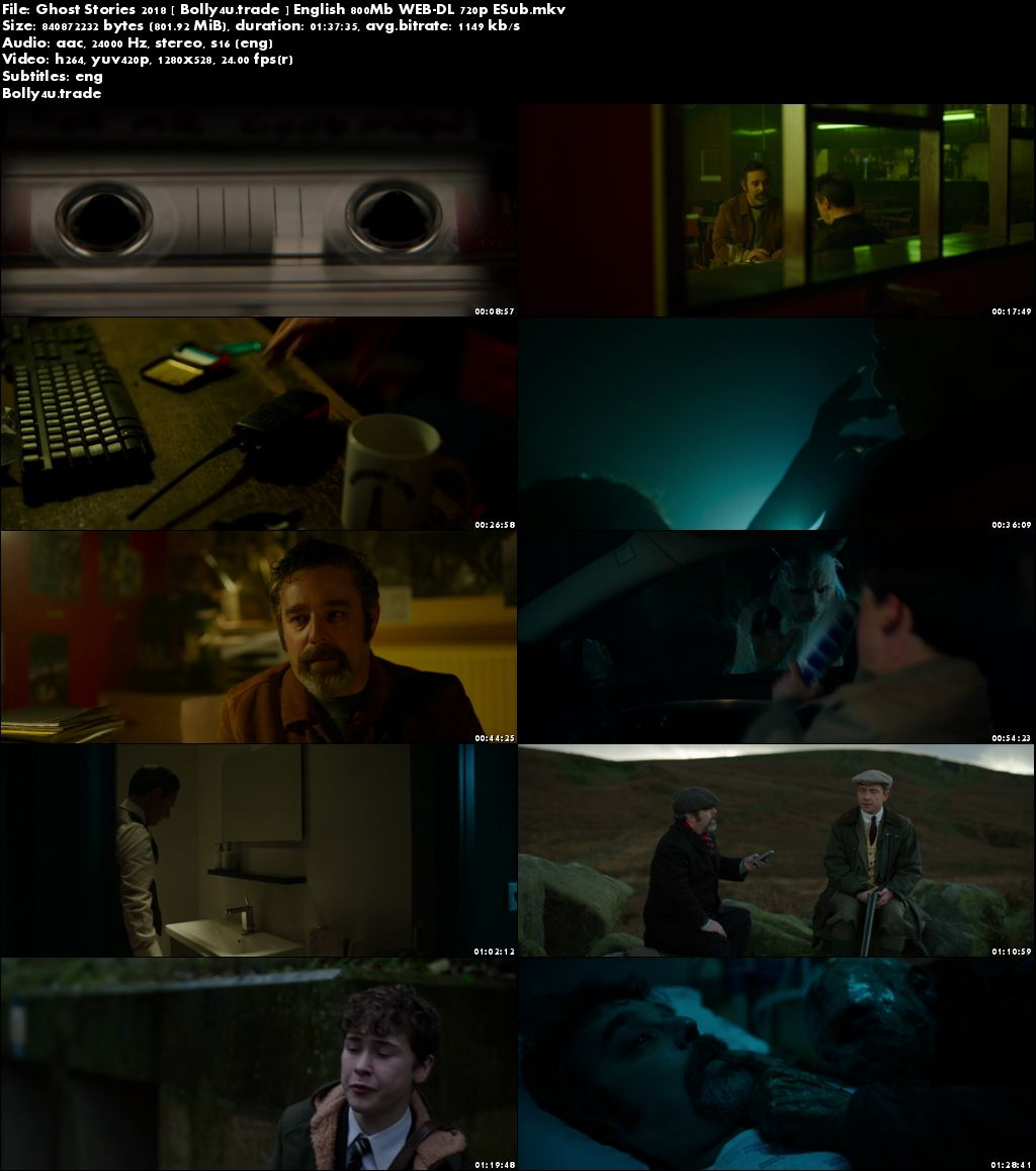 Ghost Stories 2018 WEB-DL 300MB English 480p ESub Download