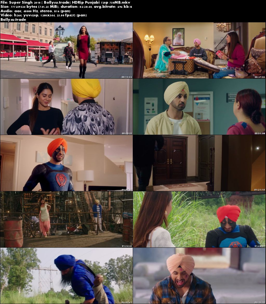 Super Singh 2018 HDRip 750MB Full Punjabi Movie Download 720p