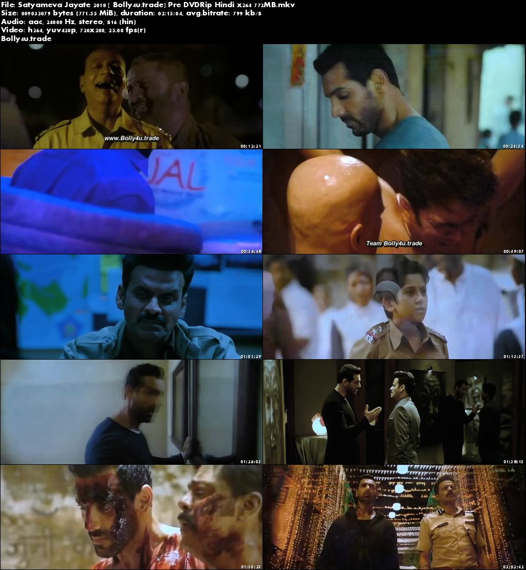 Satyameva Jayate 2018 Pre DVDRip 400Mb Full Hindi Movie Download 480p