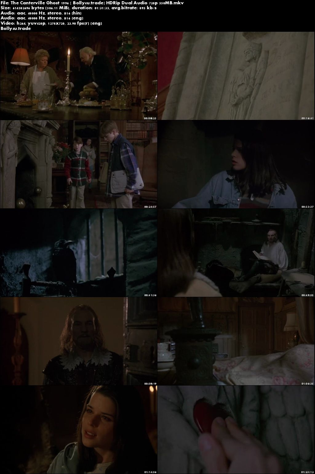 The Canterville Ghost 1996 HDRip 300Mb Hindi Dual Audio 480p Download