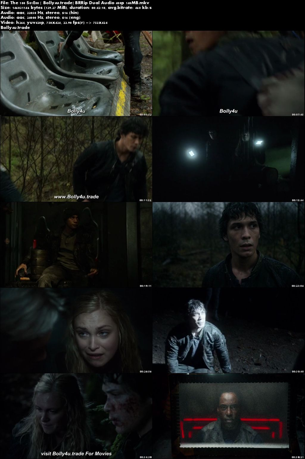 The 100 S01E08 BRRip 140MB Hindi Dual Audio 480p Download
