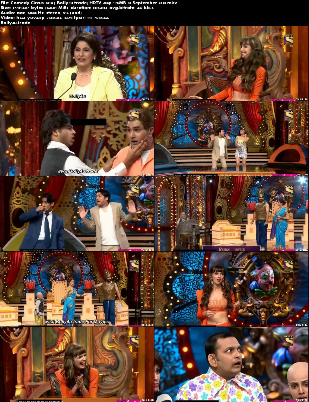 Comedy Circus 2018 HDTV 480p 170MB 30 September 2018 Download