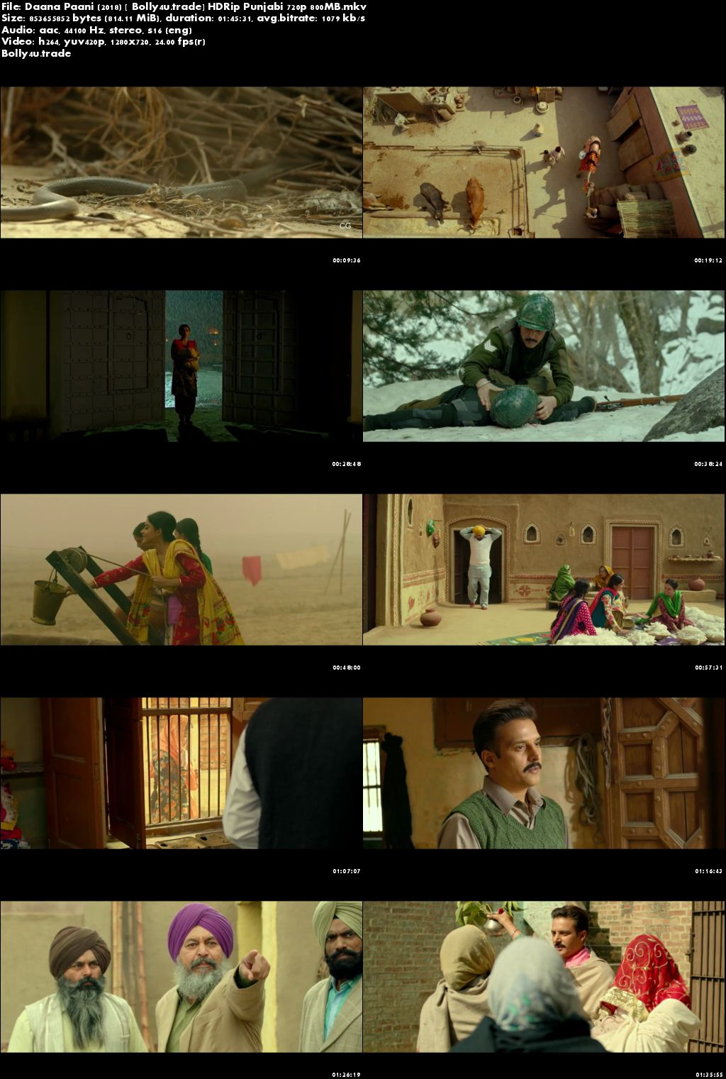 Daana Paani 2018 HDRip 300Mb Full Punjabi Movie Download 480p