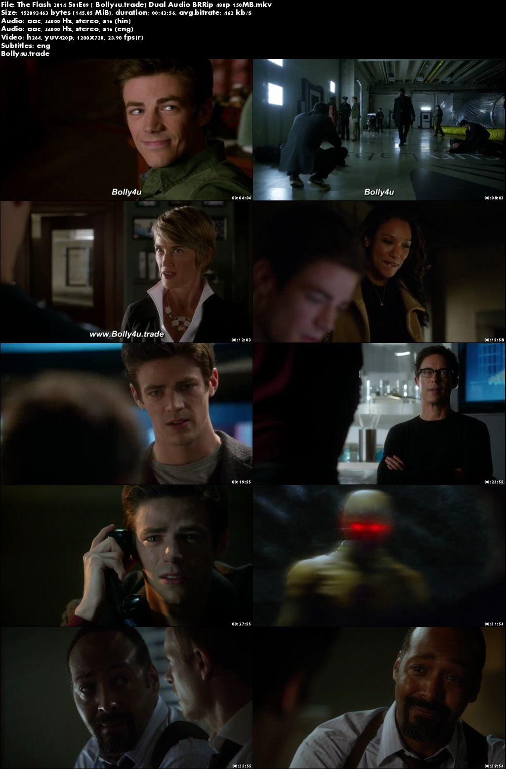 The Flash 2014 S01E09 BRRip 150MB Hindi Dual Audio 480p Download