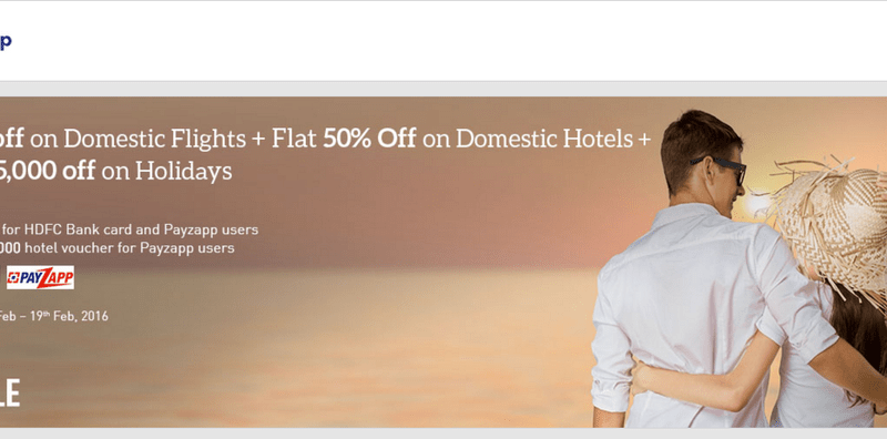 Makemytrip discount coupons hdfc