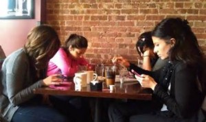 family checking phones2