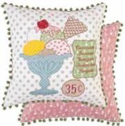 .amazon cuscino gelato coppa graziosa federa double faces di Clayre & Eef quadrato