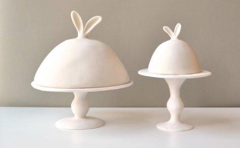 coniglio coperchioper alzatina Lapin collezione resina da Tina Frey, $ 216 unicahome.com