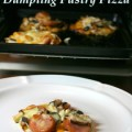 dumpling pastry pizza on the magazine