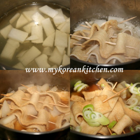 Fish Cake Soup 2 (Eomuk-Guk in Korean) cooking2