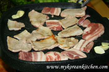 Pork Belly (Samgyeopsal in Korean) Party cooking