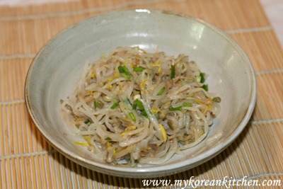 Seasoned Green Bean Sprouts (Sukju Namul Muchim in Korean)1